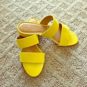 a new day yellow sandals NWT